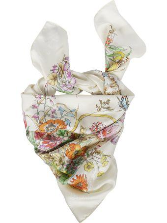 Gucci Vintage Floral Scarf