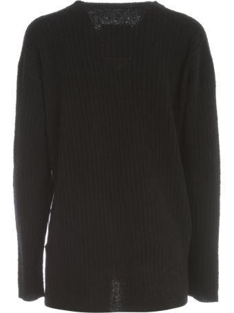Uma Wang L/s Short Side Slit Sweater