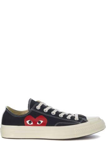 Comme des Garçons Play Sneaker Comme Des Garçons Play X Converse In Black Canvas