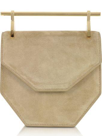 M2Malletier Mini Amor Fati Hazelnut Suede Crossbody Bag