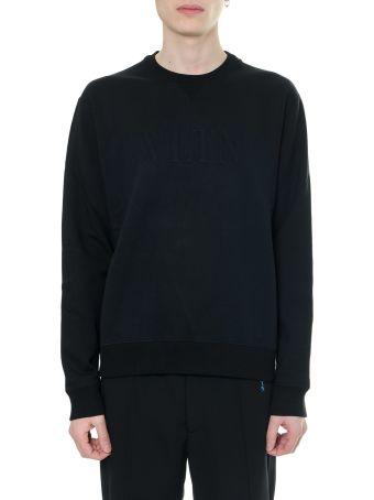 Valentino Black Vltn Sweatshirt In Cotton