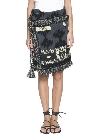 Alanui Fringed Cashmere Wrap Skirt