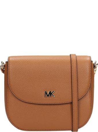 Michael Kors Browne Grained Leather Half Dome Bag