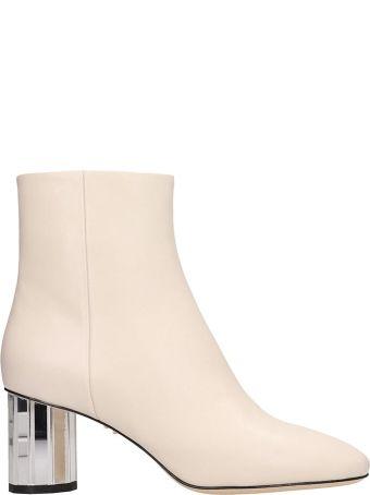 Lola Cruz White Leather Ankle Boots