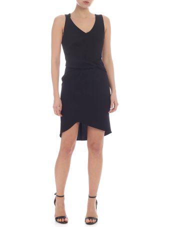 Patrizia Pepe Asymmetric Black Dress