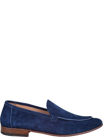 Seboy's blue suede moccasin and leather sole