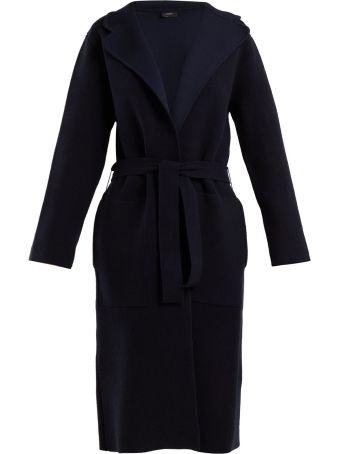 Joseph Double Face Wool-blend Belted Coat