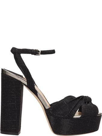 The Seller Black Canvas Sandals