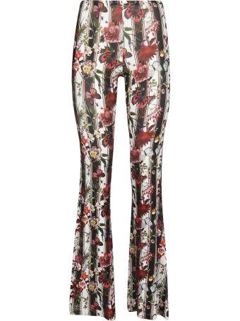 Black Coral Floral Printed Trousers