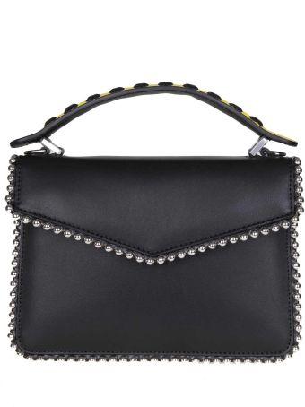 Les Petits Joueurs Mini Pixie Hand Bag In Black Calf Leather