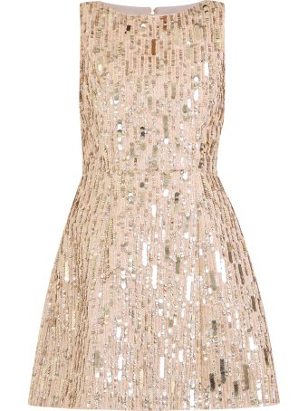 Alice + Olivia Sequinned Cotton Dress