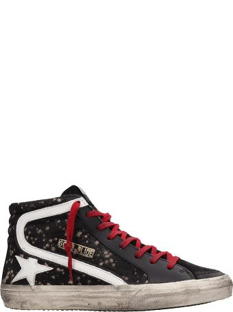 Golden Goose Black Canvas Slide Sneakers