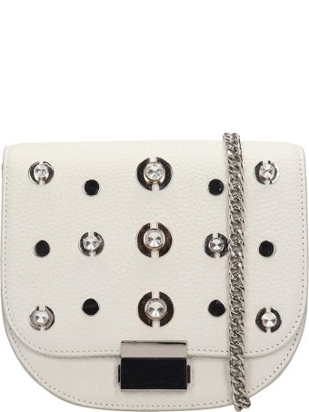 Lola Cruz Guss White Leather Bag