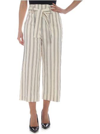 Patrizia Pepe Cropped Striped Trousers