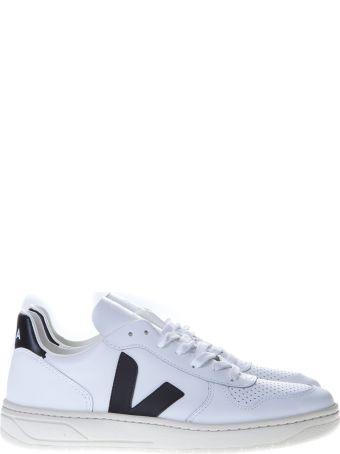 Veja White V-10 Sneakers In Leather