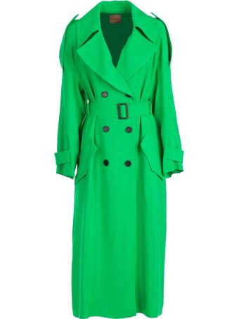 SEMICOUTURE Erika Cavallini Belted Trench