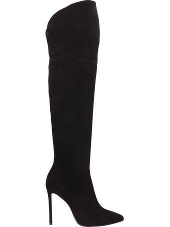 Marc Ellis Black Suede Leather High Boots