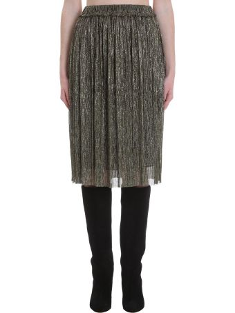 Isabel Marant Étoile Beatrice Skirt In Gold Polyester