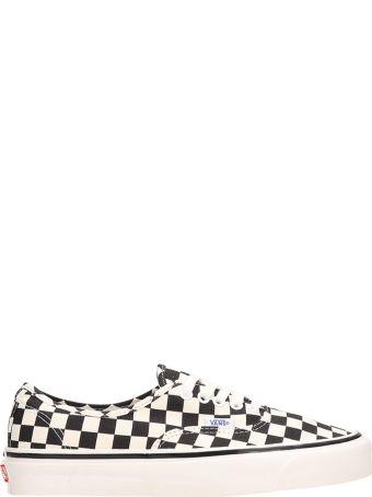 Vans Black-white Canvas Authentic 44 Dx Sneakers