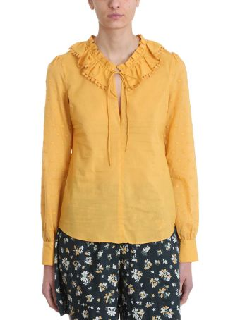 See by Chloé Yellow Ruffles Cotton Blouse