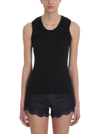 RED Valentino Black Cotton Topwear