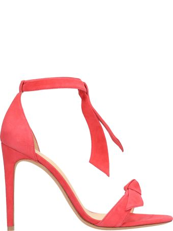 Alexandre Birman Red Coral Suede Leather Sandals