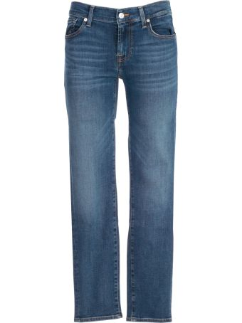 7 For All Mankind Seven For All Mankind Roxanne Cropped Mid-rise Jeans