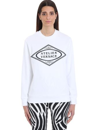 Versace Atelier Versace White Cotton Sweatshirt