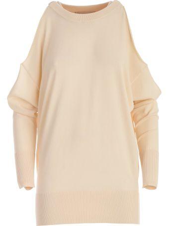 SEMICOUTURE Erika Cavallini Dolores Cut-out Shoulder Sweater