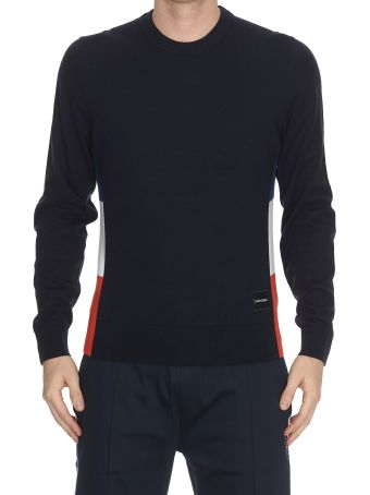 Calvin Klein Cotton Side Color Block Sweater