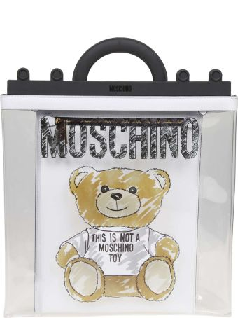 Moschino Shopping In Pvc With Teddy Bear Print