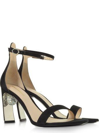 Nicholas Kirkwood Black 90mm Maeva Sandals