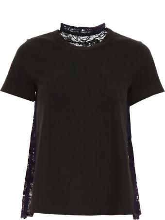 Sacai T-shirt With Lace