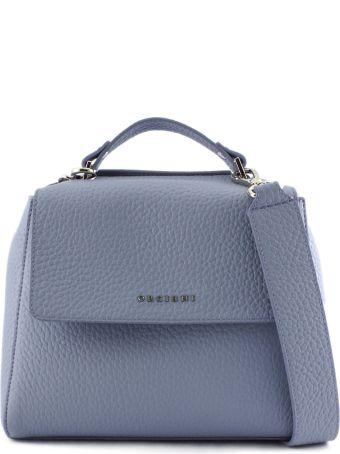 Orciani Sveva Small Dusty-tone Leather Handbag