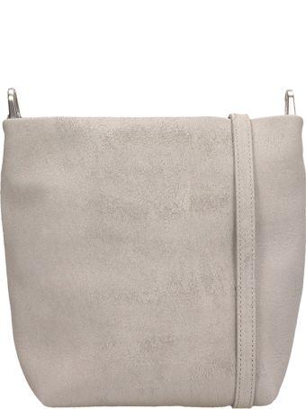 Rick Owens Grey Suede Small Adri Bag
