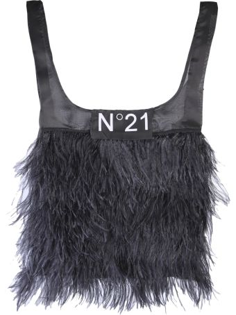 N.21 Feather Trim Tote Bag
