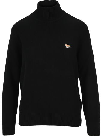 Maison Kitsuné Maison Kitsune Fox Patch High Neck Sweater