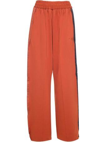 Y-3 Wide-leg Side-stripe Cotton-blend Trouser