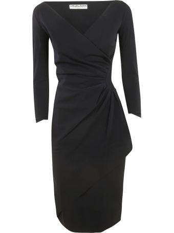 La Petit Robe Di Chiara Boni Chiara Boni Draped Long-sleeved Dress