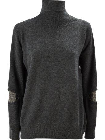 Fabiana Filippi Grey Merino Wool Blend Sweater.