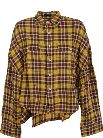 R13 Cropped Plaid Shirt