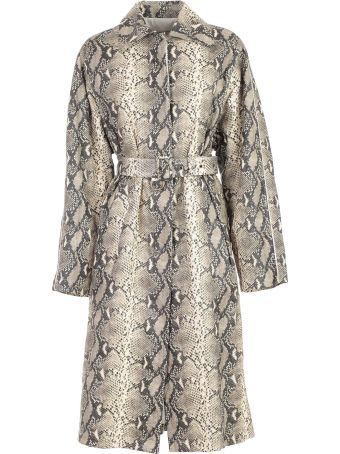 Philosophy di Lorenzo Serafini Trench Double Breasted Animalier