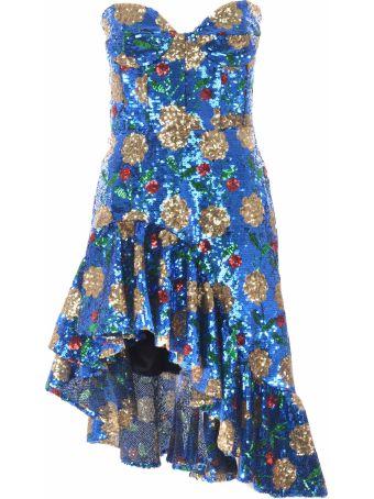 Giuseppe di Morabito Floral Sequin Dress