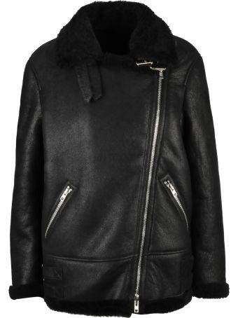 S.W.O.R.D 6.6.44 S.w.o.r.d 6.6.4.4. Zipped Fur Jacket