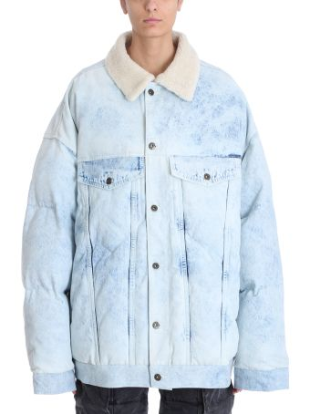 Y/Project Light Blue Denim And White Wool Jackets