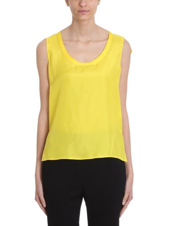 Mauro Grifoni Yellow Silk Top