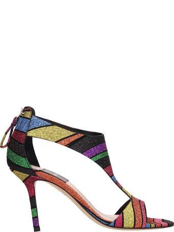 Premiata Glitter Leather Sandals