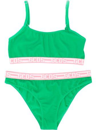 GCDS Mini Girl Green Bikini