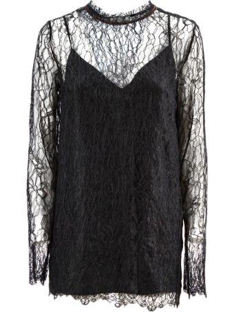 Nina Ricci Black Lace Blouse.