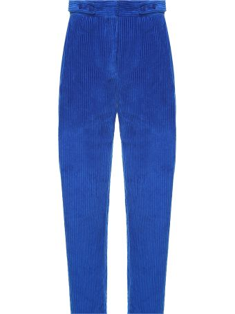 Cedric Charlier High-rise Cotton-corduroy Trousers
